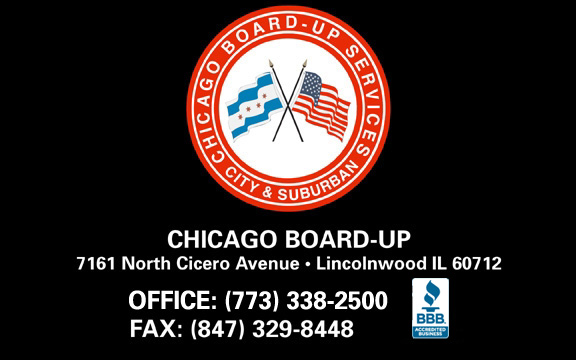 emergency board up service Illinois, fire board up Illinois, board-up IL, board up broken glass Chicagoland, board up Chicago